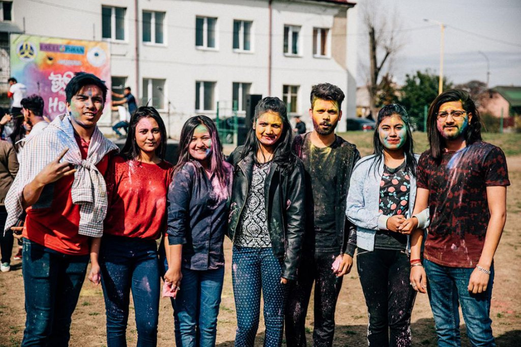 Festival of spring and colours: foreign students of UzhNU celebrated Holi