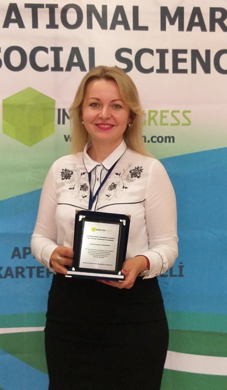 Ludmyla Symochko, Associate Professor of the Faculty of Biology, represented UzhNU at the International Congress in Turkey